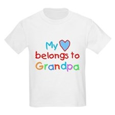 My Heart Belongs to Grandpa (B) Kids T-Shirt