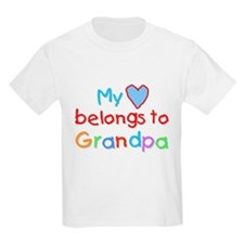 My Heart Belongs to Grandpa (B) Kids T-Shirt
