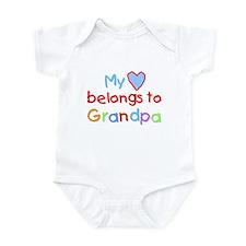 My Heart Belongs to Grandpa (B) Infant Bodysuit
