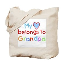 My Heart Belongs to Grandpa (B) Tote Bag