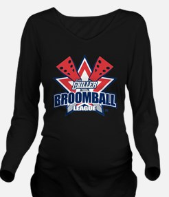 broomball Long Sleeve Maternity T-Shirt