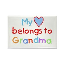 My Heart Belongs to Grandma (B) Rectangle Magnet
