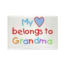 My Heart Belongs to Grandma (B) Rectangle Magnet