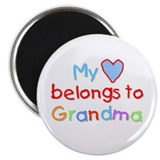 My Heart Belongs to Grandma (B) Magnet