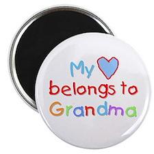 My Heart Belongs to Grandma (B) Magnet