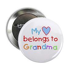 My Heart Belongs to Grandma (B) Button