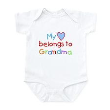 My Heart Belongs to Grandma (B) Infant Bodysuit