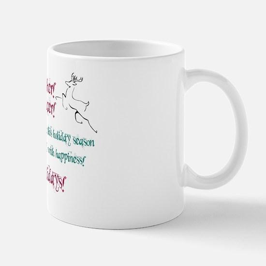 christmas reindeer dancer greeting card Mug