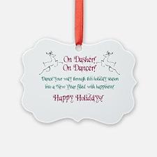 christmas reindeer dancer greetin Ornament