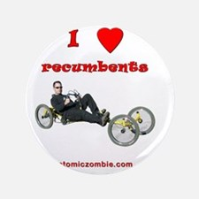 """I love recumbents StreetFighter 3.5"""" Button"""