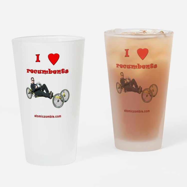 I love recumbents StreetFighter Drinking Glass