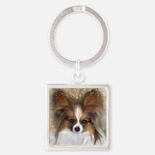 Butterfly Ears Papillon Square Keychain
