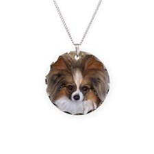 Butterfly Ears Papillon Necklace Circle Charm
