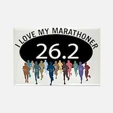 love marathon bk Rectangle Magnet