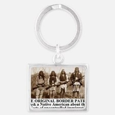 THE ORIGINAL BORDER PATROL1 Landscape Keychain
