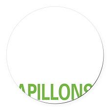 livepapillon2 Round Car Magnet