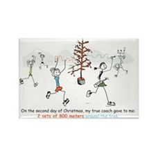 runners_around_christmas_tree1 Rectangle Magnet