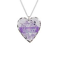 dancer purple christmas wreat Necklace