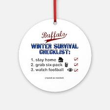 Buffalo Winter Round Ornament