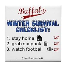 Buffalo Winter Tile Coaster