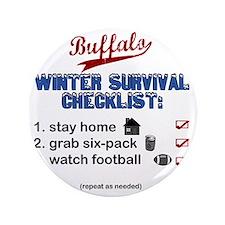 """Buffalo Winter 3.5"""" Button"""