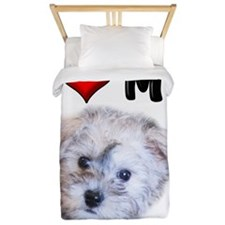 I Love My Schnoodle Twin Duvet