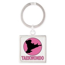 girs taekwondo Square Keychain