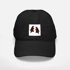 DARK BROWN TEXTURED DANCING BEARS Baseball Hat