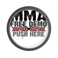 MMA shirts - free demo, push here Wall Clock