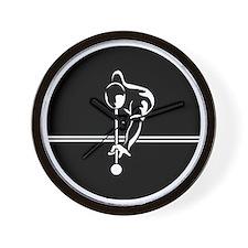poolman_white Large round button Wall Clock