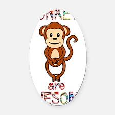 monkeyawesome Oval Car Magnet