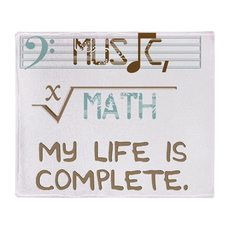 Math and Music Throw Blanket