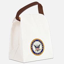 bennett seal white letters Canvas Lunch Bag