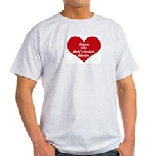 Greatest Valentine: Victoria Ash Grey T-Shirt