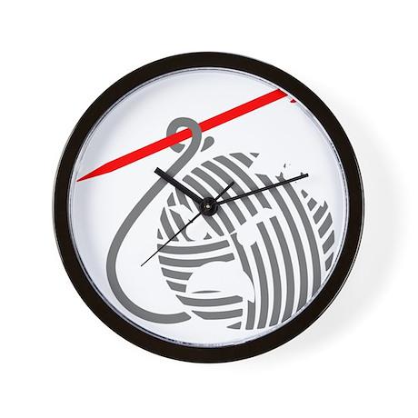 liv-blk-10in-nobg Wall Clock