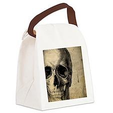 OldSkull_ipad Canvas Lunch Bag