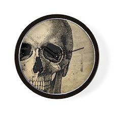 OldSkull_ipad Wall Clock