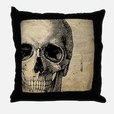 OldSkull_ipad Throw Pillow