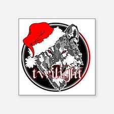 "twilight Christmas wolf 2 c Square Sticker 3"" x 3"""