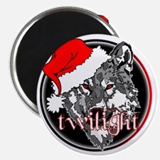 twilight Christmas wolf 2 copy Magnet
