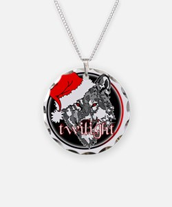 twilight Christmas wolf 2 co Necklace