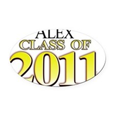 Alex 2011 Oval Car Magnet