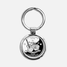 quarter_tennessee_600 Round Keychain