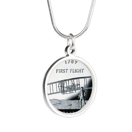 quarter_north_carolina_600 Silver Round Necklace