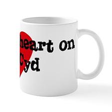 Heart on for Cyd Mug
