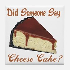 cheese cake Tile Coaster