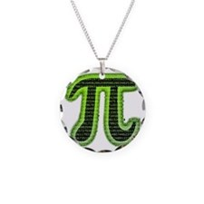 pi Necklace Circle Charm