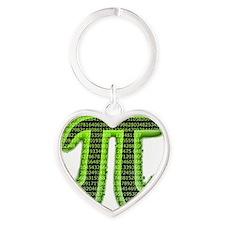 pi Heart Keychain