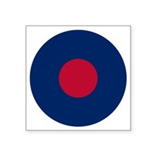 "RAF Roundel - Type B Square Sticker 3"" x 3"""