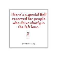"hell_light Square Sticker 3"" x 3"""